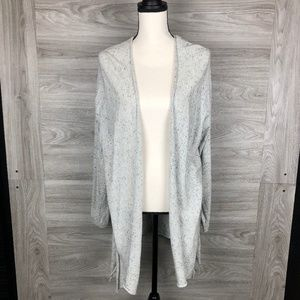RDI Grey Spotted Owl Long Cardigan Size Small
